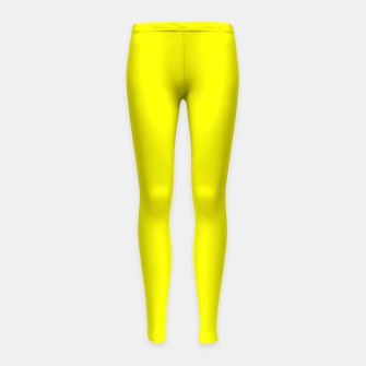 Thumbnail image of Yellow Lemon Solid Color Background Girl's leggings, Live Heroes