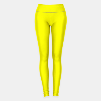 Thumbnail image of Yellow Lemon Solid Color Background Leggings, Live Heroes