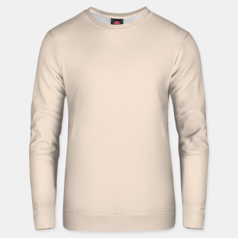 Thumbnail image of Light Brown Almond Solid Color Background Unisex sweater, Live Heroes
