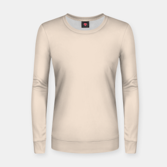 Thumbnail image of Light Brown Almond Solid Color Background Women sweater, Live Heroes