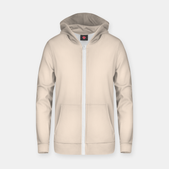 Thumbnail image of Light Brown Almond Solid Color Background Zip up hoodie, Live Heroes