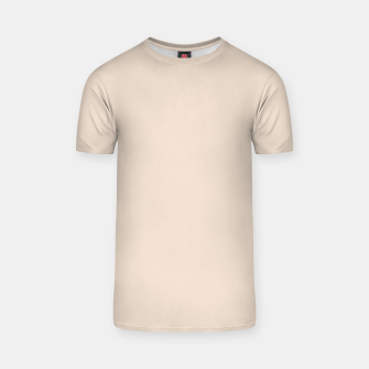 Thumbnail image of Light Brown Almond Solid Color Background T-shirt, Live Heroes