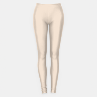Thumbnail image of Light Brown Almond Solid Color Background Leggings, Live Heroes