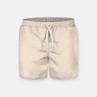Thumbnail image of Light Brown Almond Solid Color Background Swim Shorts, Live Heroes