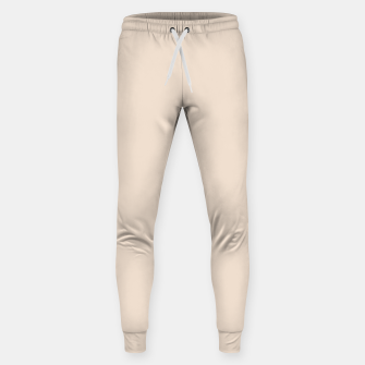 Thumbnail image of Light Brown Almond Solid Color Background Sweatpants, Live Heroes