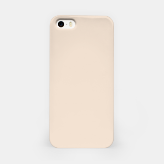 Thumbnail image of Light Brown Almond Solid Color Background iPhone Case, Live Heroes