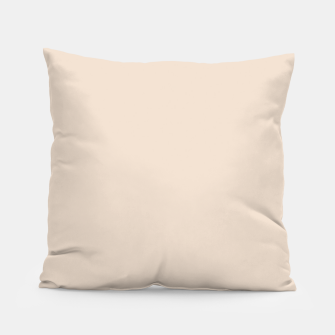 Thumbnail image of Light Brown Almond Solid Color Background Pillow, Live Heroes