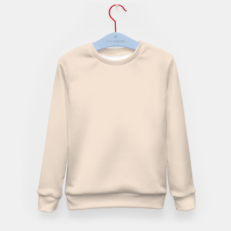 Thumbnail image of Light Brown Almond Solid Color Background Kid's sweater, Live Heroes