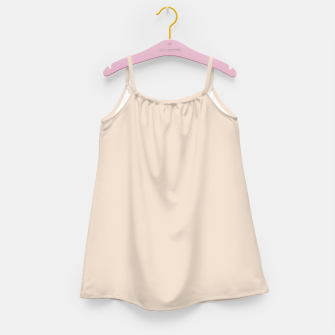 Thumbnail image of Light Brown Almond Solid Color Background Girl's dress, Live Heroes