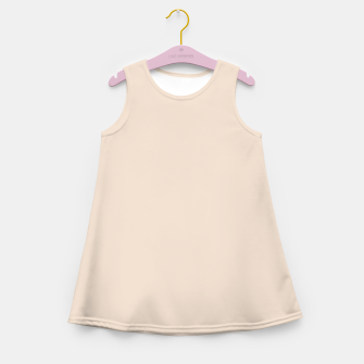 Thumbnail image of Light Brown Almond Solid Color Background Girl's summer dress, Live Heroes
