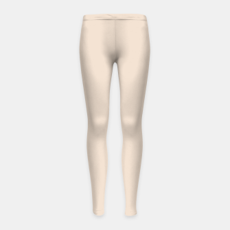 Thumbnail image of Light Brown Almond Solid Color Background Girl's leggings, Live Heroes