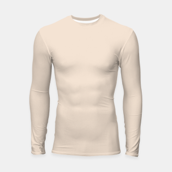 Thumbnail image of Light Brown Almond Solid Color Background Longsleeve rashguard , Live Heroes