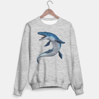 Thumbnail image of Mosasaurus dinosaur Sweater regular (grey), Live Heroes