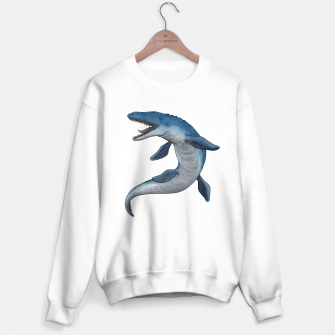 Thumbnail image of Mosasaurus dinosaur Sweater regular (white), Live Heroes