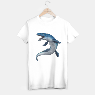 Thumbnail image of Mosasaurus dinosaur T-shirt regular (white), Live Heroes