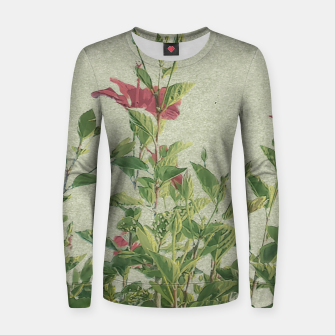 Miniatur Botanical Vintage Style Motif Artwork Women sweater, Live Heroes