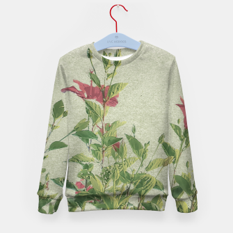 Miniatur Botanical Vintage Style Motif Artwork Kid's sweater, Live Heroes