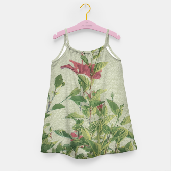 Miniatur Botanical Vintage Style Motif Artwork Girl's dress, Live Heroes