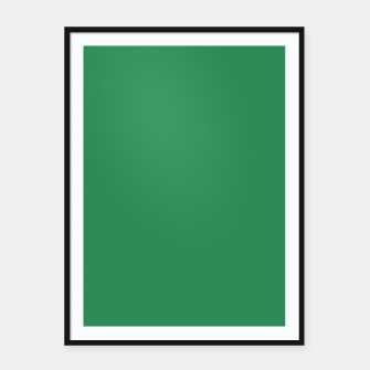 Miniatur color sea green Framed poster, Live Heroes