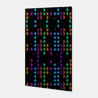 Martians Pattern Canvas Bild der Miniatur