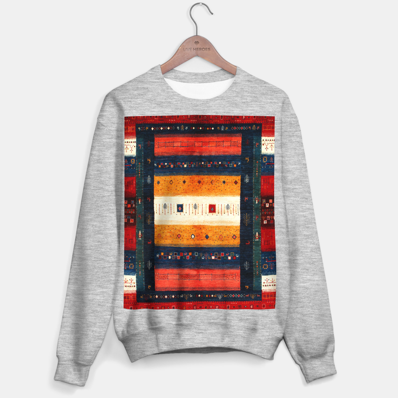 Image of Boho Traditiona Moroccan Artwork Sweater regular - Live Heroes