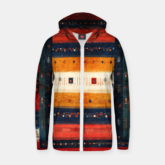 Boho Traditiona Moroccan Artwork Zip up hoodie thumbnail image