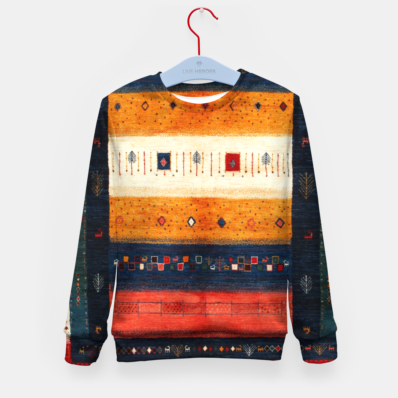 Image of Boho Traditiona Moroccan Artwork Kid's sweater - Live Heroes