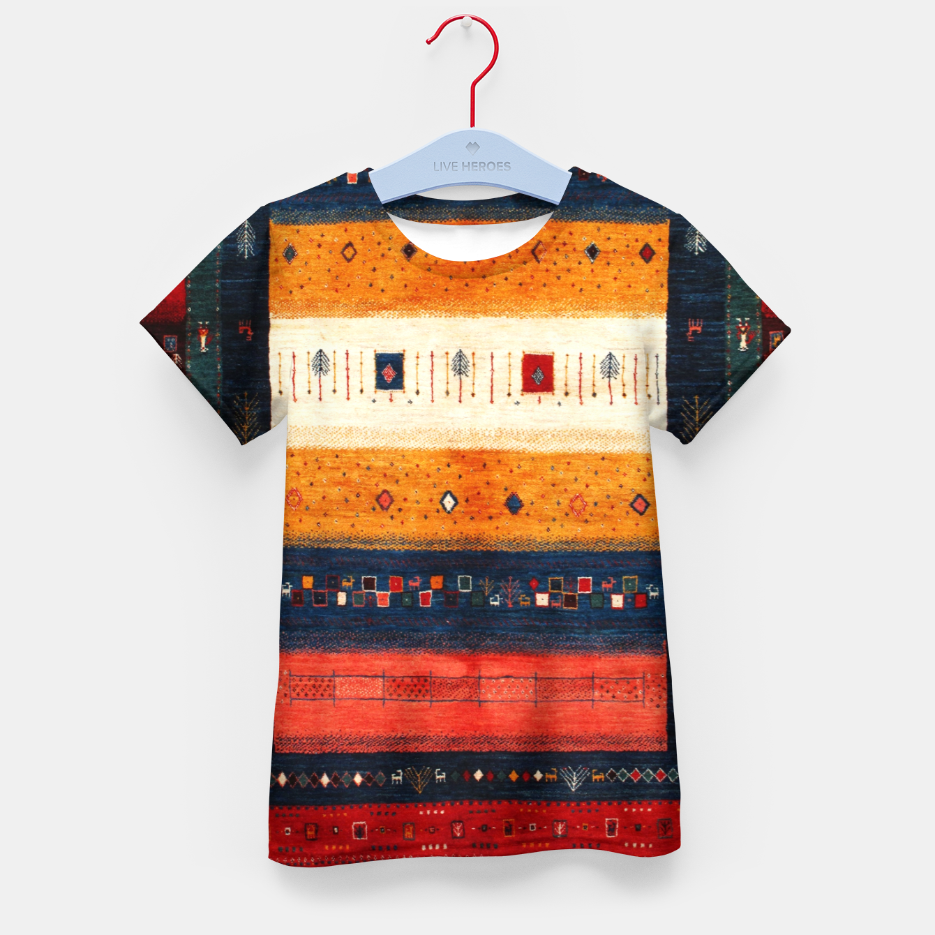 Image of Boho Traditiona Moroccan Artwork Kid's t-shirt - Live Heroes