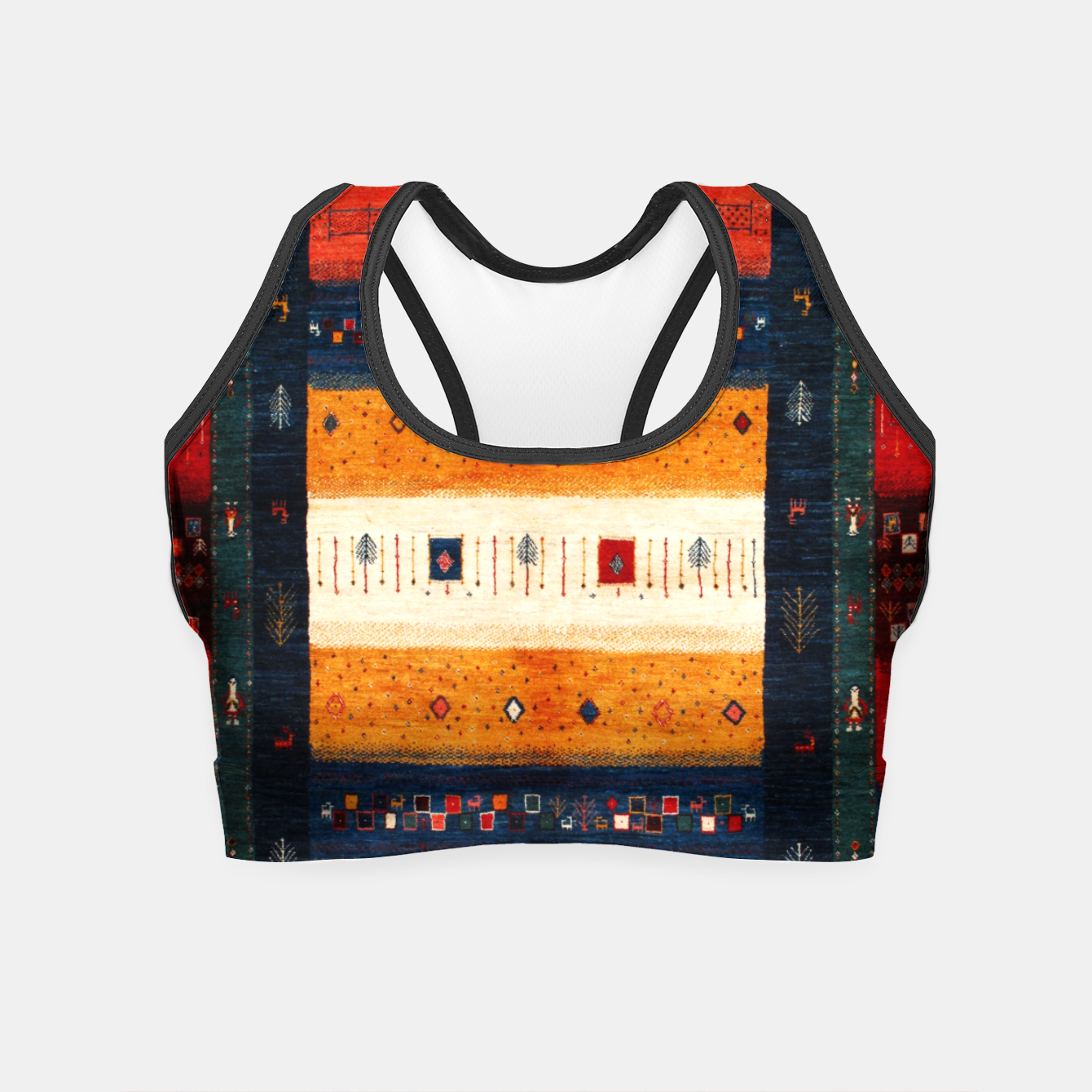 Image of Boho Traditiona Moroccan Artwork Crop Top - Live Heroes