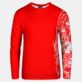 Thumbnail image of Sleeve Red Unisex sweater, Live Heroes