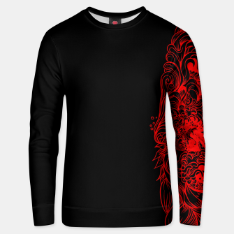 Thumbnail image of Sleeve dark red Unisex sweater, Live Heroes