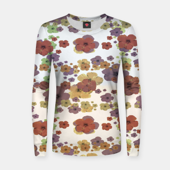 Thumbnail image of Multicolored Floral Collage Print Women sweater, Live Heroes