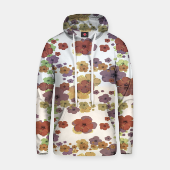 Thumbnail image of Multicolored Floral Collage Print Hoodie, Live Heroes