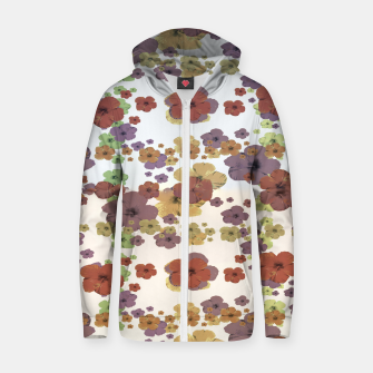 Thumbnail image of Multicolored Floral Collage Print Zip up hoodie, Live Heroes