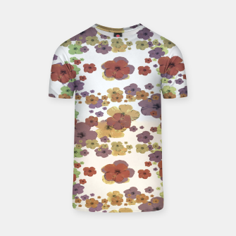 Thumbnail image of Multicolored Floral Collage Print T-shirt, Live Heroes