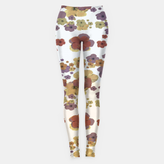 Thumbnail image of Multicolored Floral Collage Print Leggings, Live Heroes