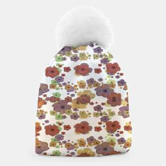 Thumbnail image of Multicolored Floral Collage Print Beanie, Live Heroes