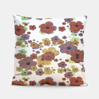 Thumbnail image of Multicolored Floral Collage Print Pillow, Live Heroes