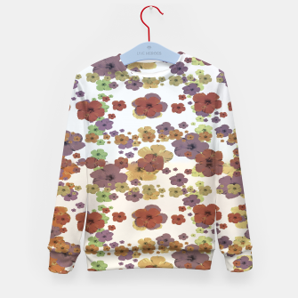 Thumbnail image of Multicolored Floral Collage Print Kid's sweater, Live Heroes