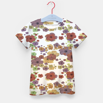 Thumbnail image of Multicolored Floral Collage Print Kid's t-shirt, Live Heroes