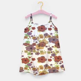 Thumbnail image of Multicolored Floral Collage Print Girl's dress, Live Heroes