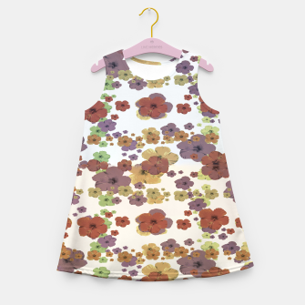 Thumbnail image of Multicolored Floral Collage Print Girl's summer dress, Live Heroes
