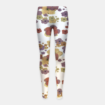 Thumbnail image of Multicolored Floral Collage Print Girl's leggings, Live Heroes