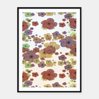 Thumbnail image of Multicolored Floral Collage Print Framed poster, Live Heroes