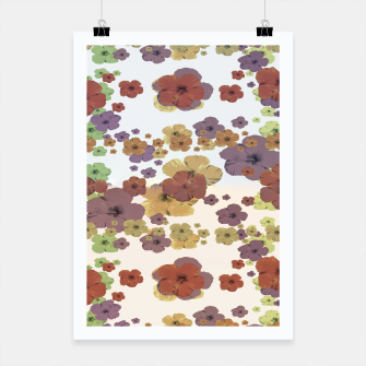 Thumbnail image of Multicolored Floral Collage Print Poster, Live Heroes