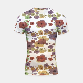 Thumbnail image of Multicolored Floral Collage Print Shortsleeve rashguard, Live Heroes
