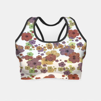 Thumbnail image of Multicolored Floral Collage Print Crop Top, Live Heroes