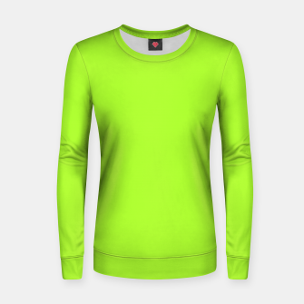 Thumbnail image of color green yellow Women sweater, Live Heroes