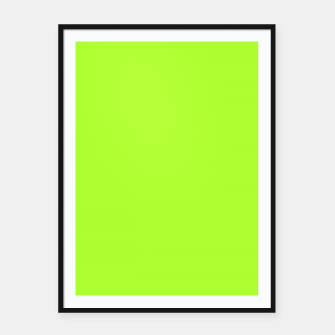 Miniatur color green yellow Framed poster, Live Heroes