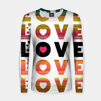 Thumbnail image of LOVE MOMENTS Women sweater, Live Heroes